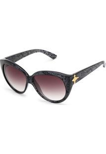 f4cc34efb3784 Dafiti. Óculos De Sol Evoke Deja Vu Cat Rd01 Branco Prata
