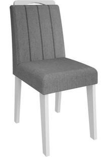 Cadeira Elisa 2 Peças - Branco - Platina