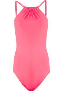 Body Feminino Em Elastano Com Decote Costas Neon