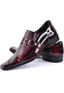 Sapato Social Gofer Vinho Envernizado