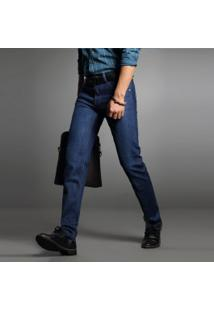Calça Jeans Masculina Reta - Azul Escuro