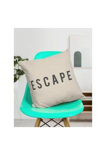 Amaro Feminino Design Up Living Capa De Almofada Escape 42X42, Branco