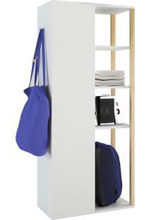 Armário Multiuso Vale Com 1 Porta 6 Prateleiras Branco Estilare