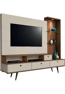 "Estante Home Tiffany Para Tvs De Até 55"" Canela / Off White"