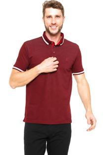 Camisa Polo Polo Wear Reta Básica Vinho