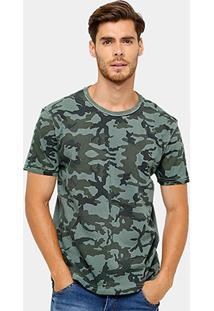 Camiseta Local Tinturada Camuflada Masculina - Masculino