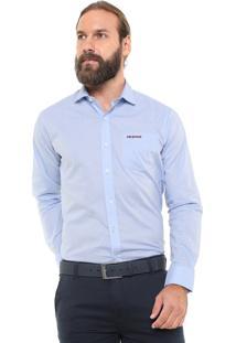 Camisa Mr Kitsch Reta Padronagem Azul
