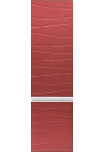 Armário Superior Para Banheiro Em Mdf Marsalo 39,5X125Cm Ônix E Marsala