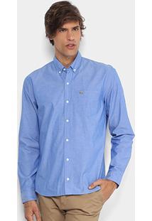 Camisa Lacoste Regular Fit Bolso Masculina - Masculino