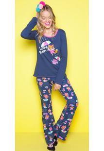 Pijama Chuva- Azul Marinho & Laranjapuket