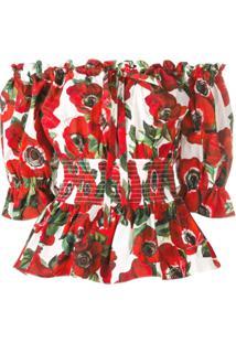 Dolce & Gabbana Blusa Ombro A Ombro - Vermelho