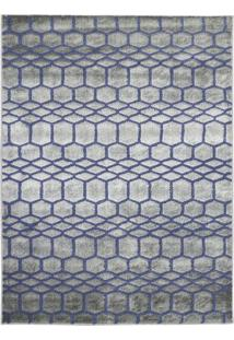 Tapete Geomã©Trico Ric- Azul Escuro & Bege- 250X195Cmtapete Sã£O Carlos