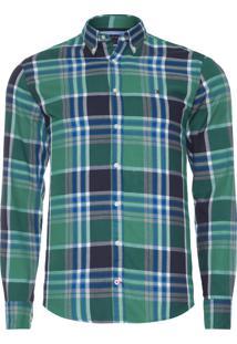 Camisa Masculina Macro Check - Verde