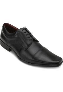 Sapato Social Couro Pro Mais Masculino - Masculino-Preto