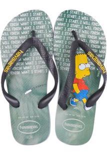 Sandalia Havaianas Simpsons - Masculino-Gelo+Cinza