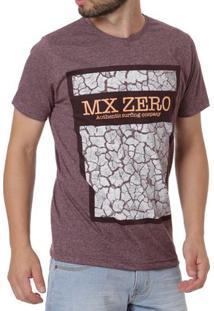 Camiseta Manga Curta Masculina Bordô