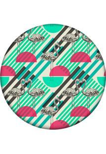 Tapete Love Decor Redondo Wevans Flamingo Tropical 94Cm