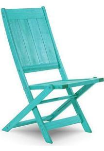 Cadeira Dobrável Sem Braço Acqualung Azul Mão E Formão