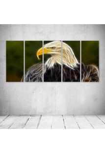 Quadro Decorativo - Eagle Neon - Composto De 5 Quadros
