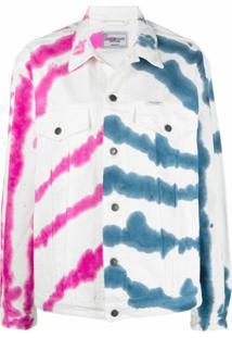 Forte Dei Marmi Couture Jaqueta Jeans Com Estampa Tie-Dye - Branco