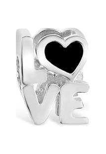 Pingente Life Love Esmaltado