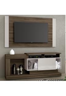 Rack Com Painel Para Tv Até 55 Polegadas Nt1065 Nogal Trend/Off White - Notavel