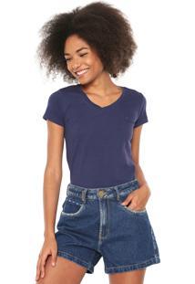 86e5b61cc84a6 Camisa Pólo Acinturada Azul feminina   Gostei e agora