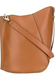 Lanvin Asymmetric Shoulder Bag - Marrom