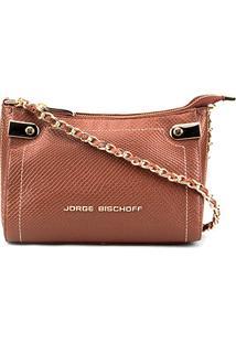 Bolsa Couro Jorge Bischoff Mini Bag Snake Basic Feminina - Feminino-Marrom