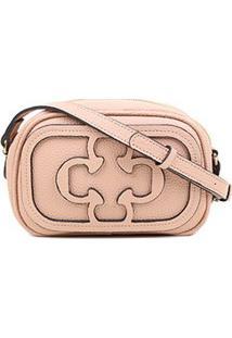 Bolsa Capodarte Mini Bag Logo Relevo Feminina - Feminino-Nude