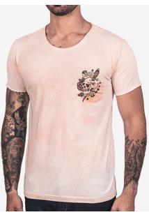 Camiseta Rosa Manchada Skull 101952