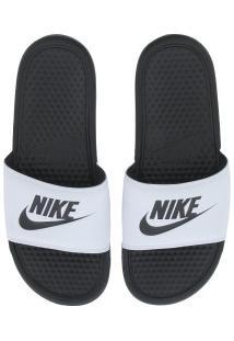Chinelo Nike Benassi Jdi - Slide - Masculino - Branco/Preto