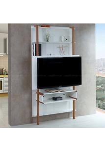 Estante Home Theater Para Tv Até 42 Polegadas Karl 180 X 99,8 X 25,5 Branco - Urbe Móveis