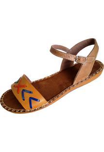 Sandalia Scarpe Velcro Mostarda
