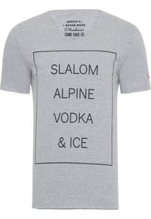 Camiseta Masculina Vodka And Ice - Cinza