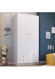Guarda-Roupa Infantil 2 Portas 2 Gavetas Gr090 Branco - Art In Móveis