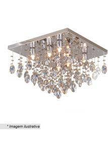 Plafon De Cristal- Inox & Champanhe- 29Xø40Cm- Bhevvy