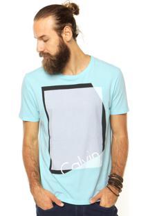 Camiseta Calvin Klein Jeans Geométrica Verde