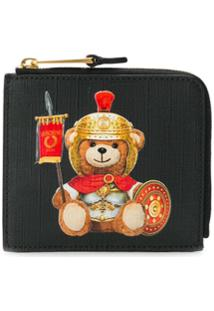 Moschino Carteira Roman Teddy Bear - Preto