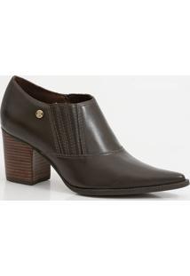 Bota Feminina Ankle Boot Salto Grosso Bottero