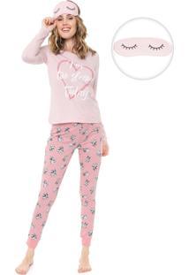 Pijama Malwee Liberta Estampado Rosa