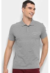 Camisa Polo Calvin Klein Masculina - Masculino-Cinza