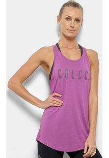 Regata Colcci Fitness Logo Feminina - Feminino-Lilás