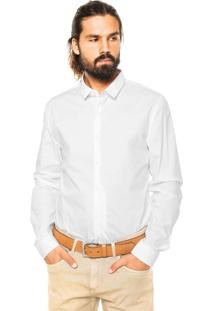 Camisa Calvin Klein Jeans Slim Fit Branca