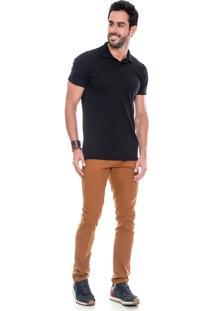 Calça Sarja Lemier Jeans Collection Slim Fit Color Caramelo