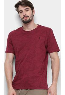 Camiseta Aleatory Estampada 6544-D-2 - Masculino-Bordô
