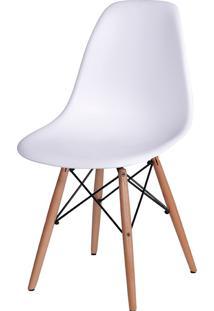 Cadeira Eames Dkr C/ Base De Madeira Or-1102B – Or Design - Branco