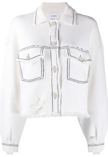 Barrie Knitted Trucker Jacket - Branco