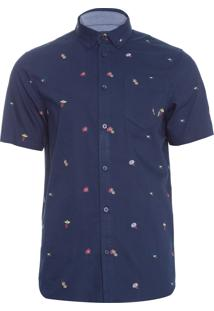 Camisa Masculina Houser Barmers Market - Azul