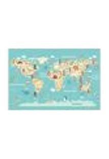 Painel Adesivo De Parede - Mapa Mundi - Mundo - 1344Pnp